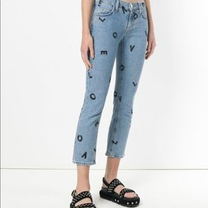 Current/Elliott Love Jeans Cropped Blue Size 25